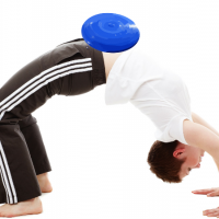 exercise with a disc at home